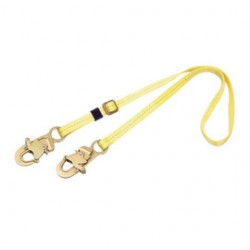 3M - 1231013 - 3M DBI-SALA 5' Polyester Web Single-Leg Adjustable Lanyard With Self-Locking Snap Hook At Each End, ( Each )