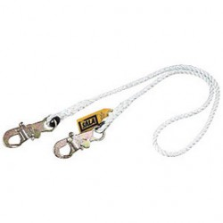 """3M - 1232528 - 3M DBI-SALA 6' 1/2"""" Nylon Rope Lanyard With 2109193 2-1/4"""" Flat Steel Hook At One End, ( Each )"""