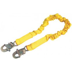 3M - 1244324 - 3M DBI-SALA 5' Shockwave2 Tubular Web Twin-Leg Shock-Absorbing Lanyard With Double Locking Snap Hooks On Each End, ( Each )