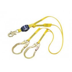 """3M - 1246027 - 3M DBI-SALA 3' EZ-Stop 3/4"""" Polyester Web Twin-Leg 100% Tie-Off Shock Absorbing Lanyard With Snap Hook At Center And Steel Rebar Hooks At Leg Ends, ( Each )"""