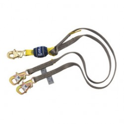3M - 1246080 - 3M DBI-SALA 6' WrapBax2 Polyester Web Twin Leg Tie-Back Shock-Absorbing Lanyard With Locking Snap Hook And Tie Back Hooks On Other End, ( Each )
