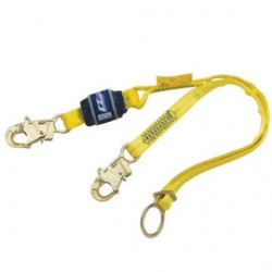 "3M - 1246085 - 3M DBI-SALA 6' EZ-Stop 1"" Polyester Web Single-Leg Tie-Back Shock Absorbing Lanyard With Self-Locking Snap Hook At Each End And Adjustable D-Rings For Tie-Back, ( Each )"