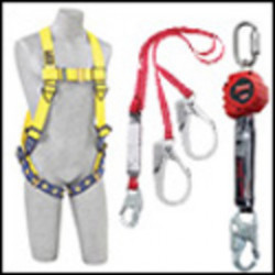 """3M - 1246152 - 3M DBI-SALA 6' Force2 1 3/8"""" Polyester Tubular Web 100% Tie-Off Twin-Leg Shock-Absorbing Lanyard With Snap Hook At Center And Saflok Max Steel Rebar Hooks At Leg Ends, ( Each )"""