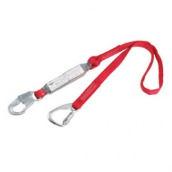 "3M - 1340060 - 3M DBI-SALA 6' PROTECTA PRO Pack 1"" Polyester Web Twin-Leg Tie-Back 100% Tie-Off Shock-Absorbing Lanyard With Snap Hook At Center And Tie-Back Carabiner At Leg Ends, ( Each )"