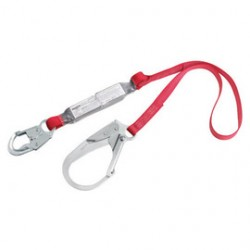 """3M - 1340125 - 3M DBI-SALA 6' PROTECTA PRO Pack 1"""" Polyester Web Single-Leg Shock-Absorbing Lanyard With Snap Hook At One End And Steel Rebar Hook At Other End, ( Each )"""