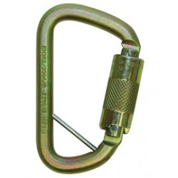"3M - 2000117 - 3M DBI-SALA Saflok 11/16"" Self-Closing/Locking Steel Carabiner With Zinc Plated Hole And Pin, ( Each )"