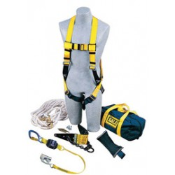 3M - 2104169 - 3M DBI-SALA Hinged Anchor Roofer's Fall Protection Kit (Includes 2103672 Roof Anchor, Rope Adjuster With Lanyard, Harness, 50' Lifeline With Counterweight And Carrying Bag), ( Each )