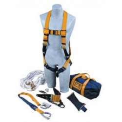 3M - 2104175 - 3M DBI-SALA Anchor Roofer's Fall Protection Kit (Includes 2104542 Roof Anchor, Rope Adjuster With Lanyard, Harness, 50' Lifeline With Counterweight And Carrying Bag), ( Each )