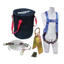 3M - 2199814 - 3M DBI-SALA Universal PROTECTA Compliance-In-A-Can Roofer's Fall Protection Kit (Includes AB17550 First Harness, 1340005 Rope Adjuster With Lanyard, AJ730A Reusable Roof Anchor, 1204001 50' Lifeline And Carry Bag), ( Each )