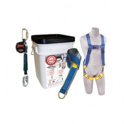 3M - 2199819 - 3M DBI-SALA PROTECTA Compliance-In-A-Can All-Purpose Fall Protection Kit (Includes 1191995 FIRST Harness, AJ47410 Web 6' Pass-Thru Tie-Off Adapter, 310112 Rebel 8' Self-Retracting Lifeline And Bucket), ( Each )