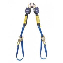 3M - 3101374 - 3M DBI-SALA 9' Nano-Lok Tie-Back Twin Leg Self-Retracting Nylon Web Lifeline With WRAPABAX Gated Snap Hook And Quick Connector, ( Each )