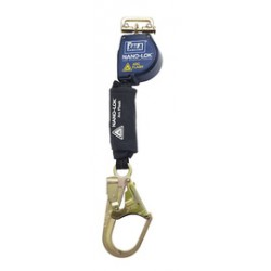 3M - 3101528 - 3M DBI-SALA 8' Nano-Lok Arc Flash Quick Connect Single-Leg Self Retracting Lanyard With Kevlar Fiber Webbing And Steel Rebar Hook And Quick Connector For Harness Mounting, ( Each )