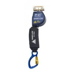 3M - 3101530 - 3M DBI-SALA 8' Nano-Lok Arc Flash Quick Connect Single-Leg Self Retracting Lanyard With Kevlar Fiber Webbing, Aluminum Captive Eye Carabiner And Quick Connector For Harness Mounting, ( Each )