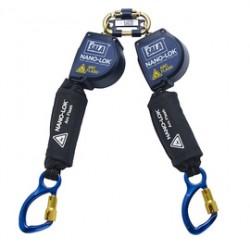 3M - 3101538 - 3M DBI-SALA 8' Nano-Lok Arc Flash Quick Connect Twin-Leg Self Retracting Lanyard, ( Each )