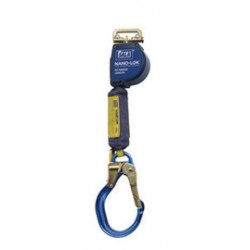 3M - 3101589 - 3M DBI-SALA 9' Nano-Lok Extended Length Quick Connect Self Retracting Dyneema Fiber And Polyester Web Lifeline With Aluminum Locking Rebar Hook And Quick Connector for Harness Mounting, ( Each )