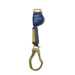 3M - 3101591 - 3M DBI-SALA 9' Nano-Lok Extended Length Quick Connect Self Retracting Dyneema Fiber And Polyester Web Lifeline With Steel Locking Rebar Hook And Quick Connector For Harness Mounting, ( Each )