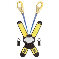 """3M - 3102003 - 3M DBI-SALA 6' Talon 100% Tie-Off Twin-Leg Self Retracting 1"""" Nylon Web Lifeline With Delta Comfort Pad, (2) Lanyard Keepers, 2 1/4"""" Gate Opening, Steel Rebar Hooks And Quick Connector, ( Each )"""