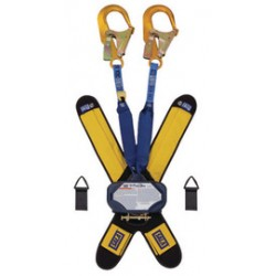"""3M - 3102016 - 3M DBI-SALA High Capacity 6' Talon 100% Tie-Off Twin-Leg Self Retracting 1"""" Nylon Web Lifeline With Delta Comfort Pad, (2) Lanyard Keepers, 2 1/4"""" Gate Opening, Aluminum Rebar Hooks And Quick Connector, ( Each )"""