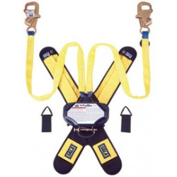 """3M - 3102100 - 3M DBI-SALA 7 1/2' Talon Tie-Back Twin-Leg Self Retracting 1"""" Nylon Web Lifeline With Delta Comfort Pad, (2) Lanyard Keepers, Tie-Back Hooks And Quick Connector, ( Each )"""