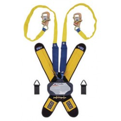 """3M - 3102115 - 3M DBI-SALA 7 1/2' Talon Tie-Back Twin-Leg Self Retracting 1"""" Nylon Web Lifeline With Delta Comfort Pad, (2) Lanyard Keepers, 5/8"""" Gate Opening, Steel Snap Hook, Tie-Back Hooks And Quick Connector, ( Each )"""