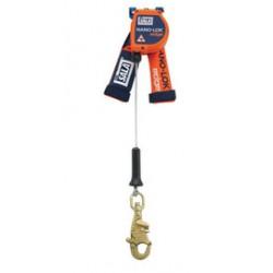 "3M - 3500211 - 3M DBI-SALA 8' Nano-Lok edge 3/16"" Galvanized Steel Cable Single Leg Self-Retracting Lifeline With Steel Swiveling Snap Hook, ( Each )"