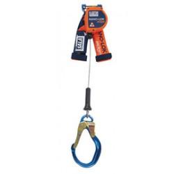 "3M - 3500216 - 3M DBI-SALA 8' Nano-Lok edge 3/16"" Galvanized Steel Cable Single Leg Self-Retracting Lifeline With 2-1/2"" Aluminum Rebar Lock Nose Hook, ( Each )"
