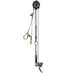 Capital Safety - 3512100 - DBI/SALA 100' 1/4 Galvanized Steel Cable Assembly With Rung And Harness Hook Connections (For Use With SSB Series Climb Assist Self-Retracting Lifeline Systems), ( Each )