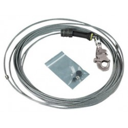 3M - 3900107 - 3M DBI-SALA 50' FAST-Line Replacement Stainless Steel Cable Assembly With Hook, ( Each )