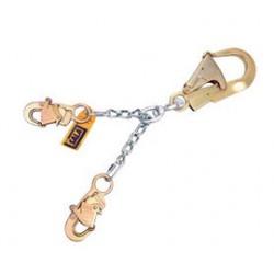 "3M - 5920051 - 3M DBI-SALA 22"" Twist Link Aluminum Rebar Hook Chain Rebar Assembly With 2 1/4"" Aluminum Rebar Hook At One End And Self-Locking Snap Hooks At Leg Ends, ( Each )"
