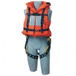 3M - 9500468 - 3M DBI-SALA Off-Shore Orange PVC Foam Lifejacket With Back D-Ring Opening, Foam Filled Head Support Collar, Adjustable Straps, Hinged Back Panel, 62 sq-in Reflective Tape And Safety Whistle (For Use With Harness), ( Each )