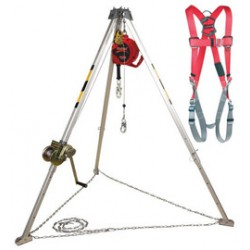 Capital Safety - AA805AG - DBI/SALA Protecta Confined Space System (Includes 8' Aluminum Tripod, 50' Galvanized Winch, Pulley, 50' Galvanized Self-Retracting Lifeline And Harness), ( Each )