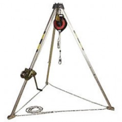 3M - AA805AG1 - 3M DBI-SALA PROTECTA Confined Space System (Includes 8' Aluminum Tripod, 50' Galvanized Winch, Pulley And 50' Galvanized Self-Retracting Lifeline), ( Each )