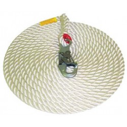 "3M - AC225A - 3M DBI-SALA 75' Vertical 5/8"" Nylon Rope Lifeline With Single Snap Hook, ( Each )"