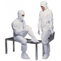DuPont - D13471737-CA - DuPont Small White IsoClean Tyvek Isoclean Disposable Coveralls, ( Case of 25 )