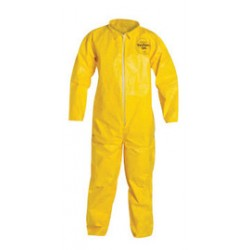 DuPont - D13479273-CA - DuPont Size 4X Yellow Tychem 2000 10 mil Polyethylene Coated Tyvek Bib Pants/Overalls, ( Case of 12 )