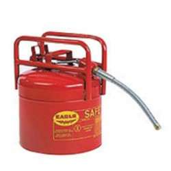 Eagle Mfg - 1215SX5 - Eagle 5 Gallon Red 24 Gauge Galvanized Steel Type II Safety Can With 5/8 OD X 12 L Flexible Spout And Flame Arrestor, ( Each )