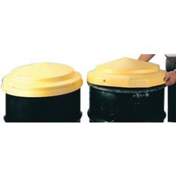 Eagle Mfg - 1666-PK - Eagle 23 X 5 Yellow HDPE Closed Head Drum Cover, ( Pack of 6 )