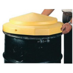 Eagle Mfg - 1667-PK - Eagle 24 X 5 Yellow HDPE Open Head Drum Cover, ( Pack of 6 )