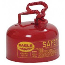 Eagle Mfg - UI-25-S - Eagle Red Galvanized Steel Self-Closing 2 1/2 gal Safety Can - 10 in Height - 11 1/4 in Overall Diameter - 048441-00447