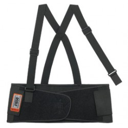 Ergodyne - 11091-EA - Ergodyne X-Small 7 1/2 Black ProFlex 1650 Elastic Economy Back Support With 5 Single Strap Closure, Rubber Track, Polypropylene Stays And Detachable Suspenders, ( Each )