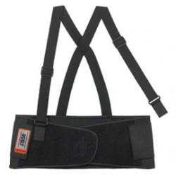 Ergodyne - 11093-EA - Ergodyne Medium 7 1/2 Black ProFlex 1650 Elastic Economy Back Support With 5 Single Strap Closure, Rubber Track, Polypropylene Stays And Detachable Suspenders, ( Each )
