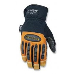 Ergodyne - 16085-CA - Ergodyne X-Large Black ProFlex Goatskin And Kevlar And Rubber Full Finger Mechanics Gloves With Gauntlet Cuff, ( Case of 6 )