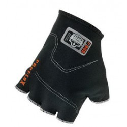 Ergodyne - 16104-PR - Ergodyne Medium/Small Black ProFlex Spandex Half Finger Anti-Vibration Glove Liners With Elastic Cuff, ( Pair )