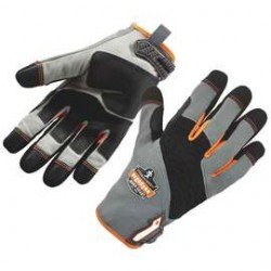 Ergodyne - 17242 - ProFlex 820 High-abrasion Handling Gloves - 7 Size Number - Small Size - Poly, Neoprene Knuckle - Gray, Black - Pull-on Tab, Abrasion Resistant, Reinforced Thumb, Knitted, Comfortable, Rugged, Reinforced Saddle, Hook & Loop Closure,