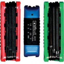 Eklind Tool - 25024-CT - Eklind .050 - 3/16 Black Alloy Steel 24 Piece Combo Torx Hex Key Set With Combination Ergo-Fold, Fold-up Hex And Torx Key Set, ( Carton of 6 )