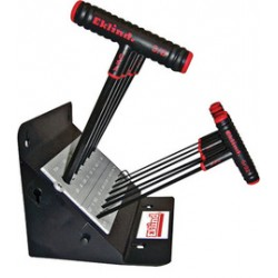 Eklind Tool - 60814 - Eklind 5/64' - 3/8' X 9' Black Alloy Steel Power-t 11 Piece T-Shaped Hex Key Set With Stand, ( Each )