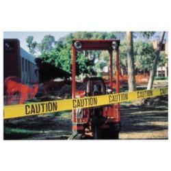 Harris Industries - BT005-RL - Harris Industries 3 X 1000' Black/Yellow 4 mil Polyethylene BT Series Barricade Tape CAUTION CAUTION CAUTION, ( Roll )