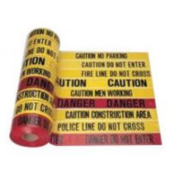 Harris Industries - BT007 - Harris Industries 3 X 1000' Black/Yellow 4 mil Polyethylene BT Series Barricade Tape CAUTION CONSTRUCTION AREA, ( Roll )