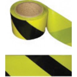 Harris Industries - BT031 - Harris Industries 3 X 1000' Black/Yellow 4 mil Polyethylene BT Series Barricade Tape, ( Roll )