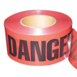 Harris Industries - BT049 - TAPE RED DANGER 3X1000IN 12 TAPE RED DANGER 3X1000IN 12 (Roll of 12)